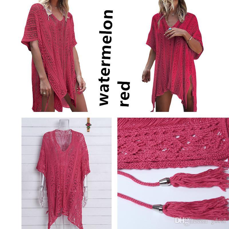 Fansion desgaste do verão das mulheres maiô encobrir biquíni crochet túnica praia dress frete grátis