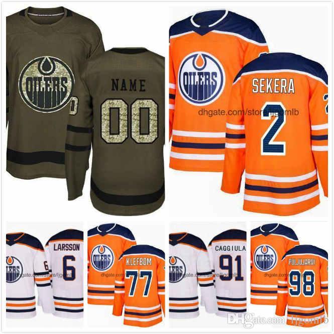 2019 Adam Larsson Jersey 6 Drake Caggiula 91 Oscar Klefbom 77 Jesse  Puljujarvi 98 Andrej Sekera 2 Ice Hockey Jerseys 2018AD Edmonton Oilers S  3XL From ... 5e9b786ad