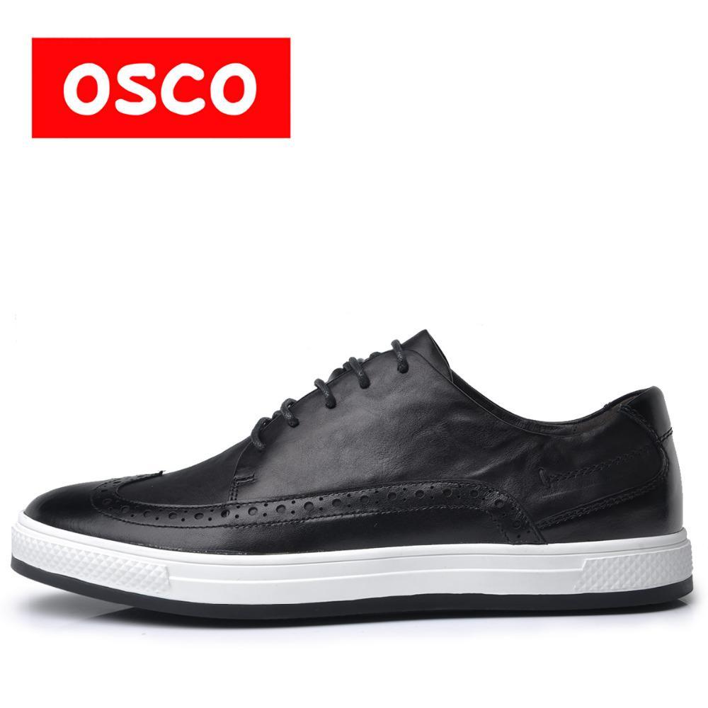 58cb4e3575 OSCO ALL SEASON New Men Shoes Fashion Men Casual leather Shoes Oxfords  shoes#S3636