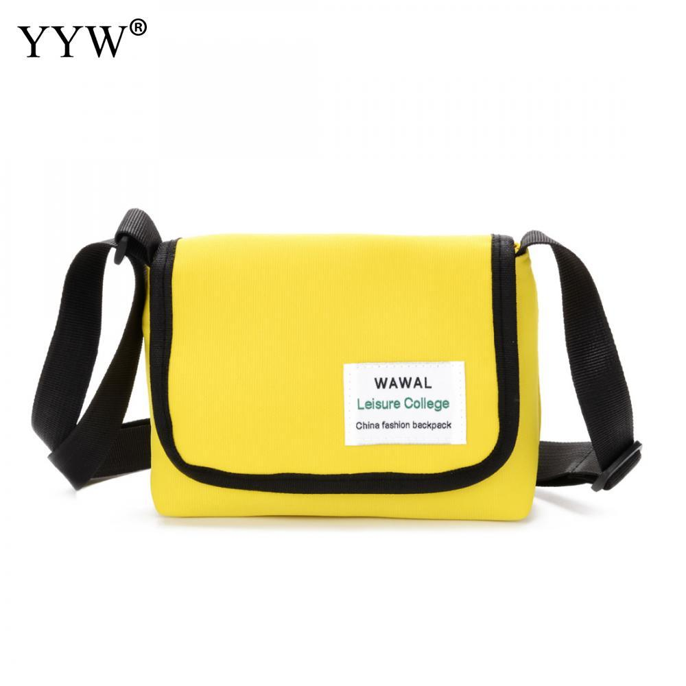 df4731acb6667 Casual Solid Unisex Handbags Yellow Crossbody Bag for Children Red Women's  School Bags Male Shoulder Bag 5 Colors for Wholesale