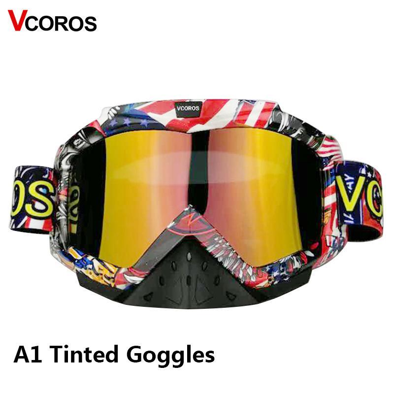 b8aa6fd906 Compre Vcoros Off Road Casco De Moto Gafas ATV MX Dirt Bike Moto Gafas De  Carreras Esquí Gafas De Sol Motocicleta Downhill Gafas A $57.44 Del Yaritsi  ...