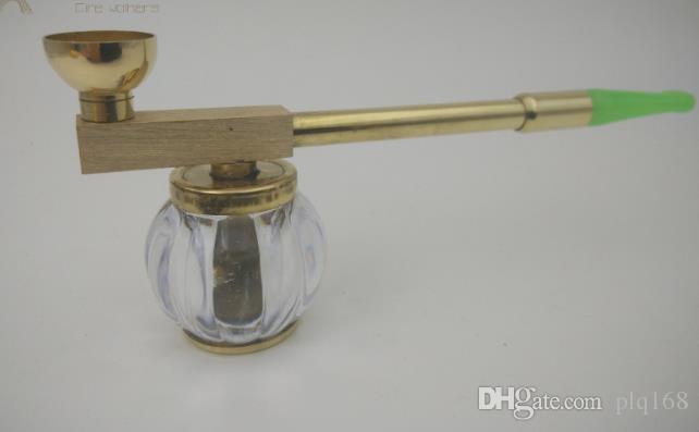 Laiton Hookah Pipe filtre pot sec vieux Hanyan Rod double porte-cigarette