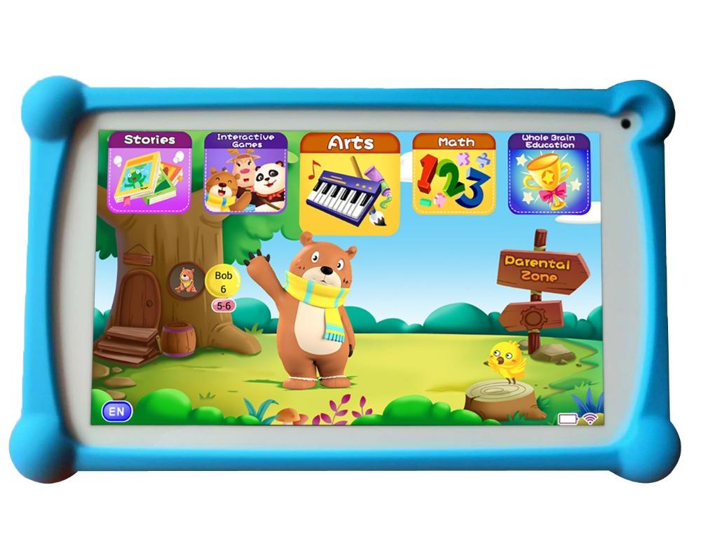 Kids Tablet, B B PAW 7 inch 1G 8G Android Tablet with Additional 120  English Preloaded Learning&Training Apps for Kids 2-6 Year