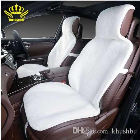 NEW For 2 Front Car Seat Covers Faux Fur Cute Interior Accessories Cushion Cover Styling Winter New Plush Pad