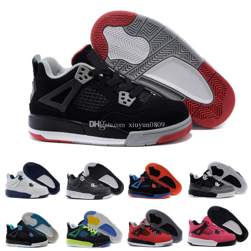 df0516d4364 Kids 4 Pure Money Basketball Shoes Mens 4s BRED Royalty White Cement Sports  Sneakers Motorsport Outdoor Sports Sneakers Kids Runners On Sale Kids  Running ...