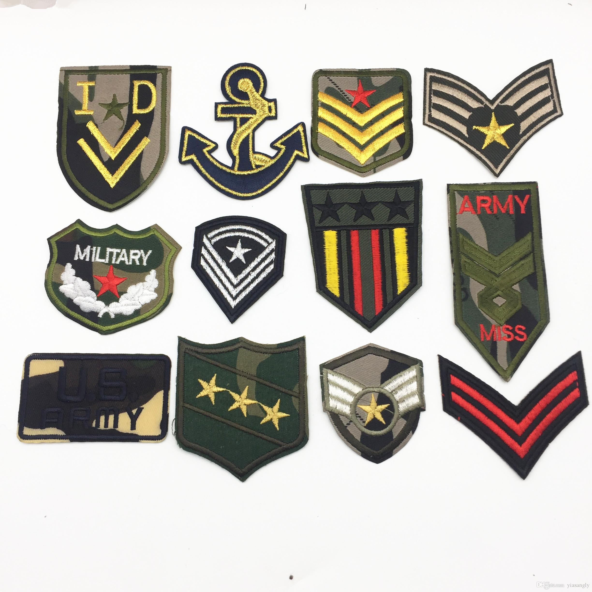 Us Army Military Patches Embroidery Iron On Morale Patches Clothes