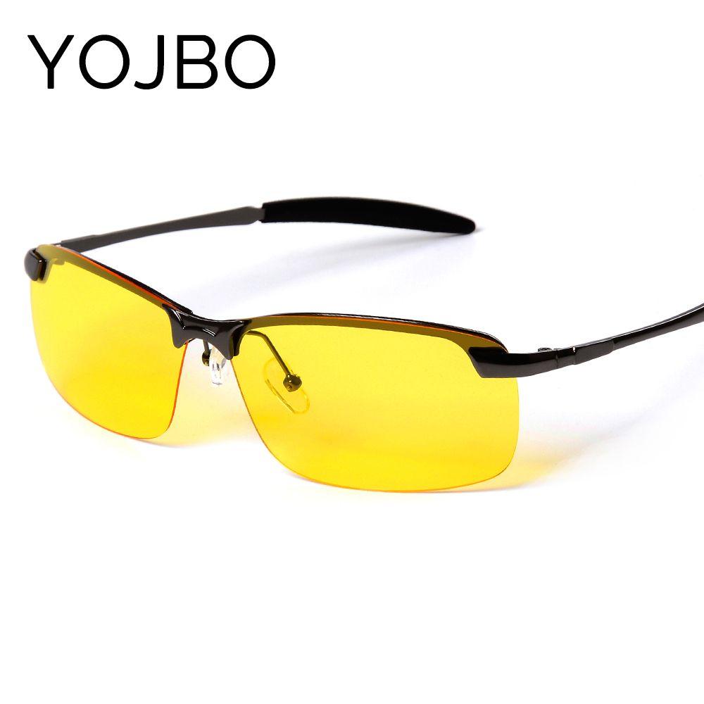 Compre YOJBO Homens Noite Condução Óculos De Sol Polarizados Visão Noturna  Óculos Masculinos 2018 Nova Moda Designer Clássico Marca Amarelo Anti Glare  De ... af738a0ed3