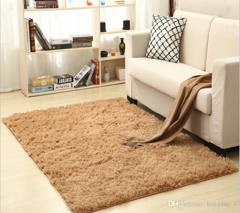 Bedroom Rug Shaggy Anti-Skid Flokati Living Kitchen Bath Fluffy Mat Dining Room Carpet Car Floor Door Mat,5 Sizes