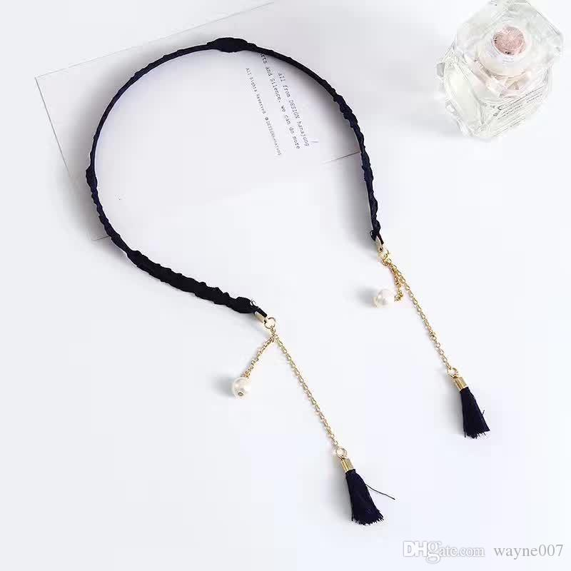 High-end Flowers Pendant Pearls Hair Bands Tassels Mix Styles Colores Fake Earrings Headbands Hair Accessories & Tools DHL