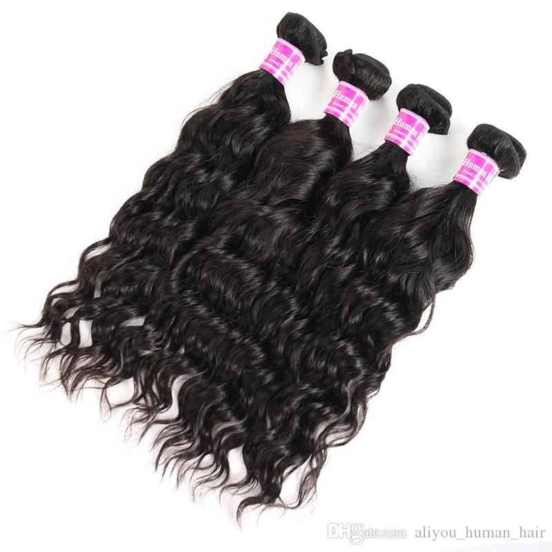 Sample Hair 8A Unprocessed Virgin Brazilian Hair Peruvian Body Straight Deep Water Curly Human Hair Weaves Bundles 1 Or 10-40inches