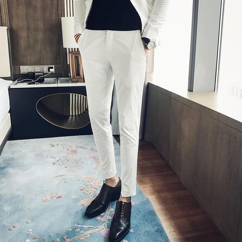 741377148325 2017 Fashion Trend Gentleman Style Autumn And Winter New Clothes Slim  Trousers Young Men Business Suits Pants Casual Suit Pants Suit Pants Slim  Trousers ...