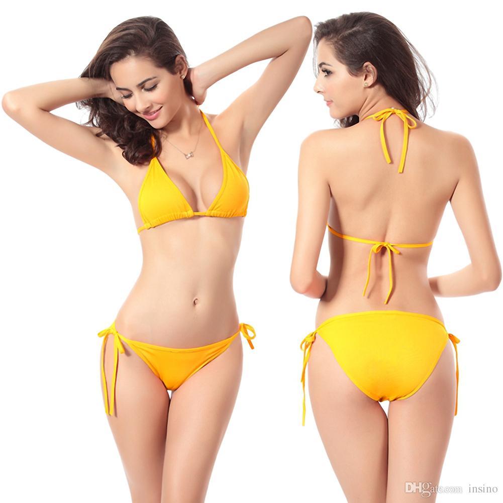 2018 Женщины Бики лето Европейский Классическая мода купальники бикини Разноцветный бикини купальник женщин Brakini Оптовая