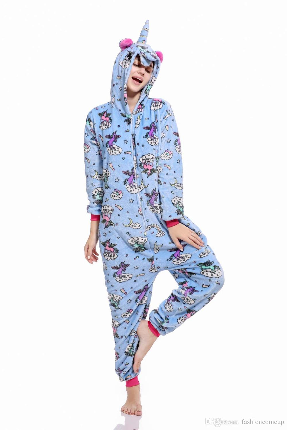 b1e1c00c4f7f Animal Pegasus Kigurumi Unicorn Onesies Adult Unisex Women Men Kids Hooded  Flannel Sleepwear Winter Pajamas SF10 5 Awesome Group Halloween Costumes ...