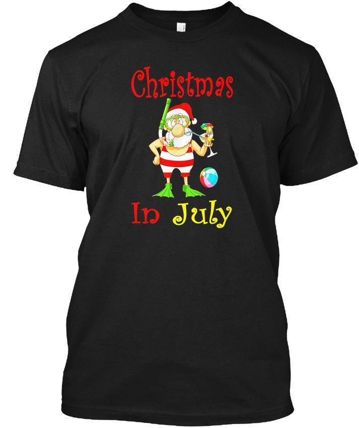 c4aae3397 Funny Christmas In July Santa At The Beach Wholesale Cool Casual Sleeves  Cotton T Shirt Fashion New T Shirts Unisex Tagless Tee T Shirt Tee Shirt Of  The Day ...