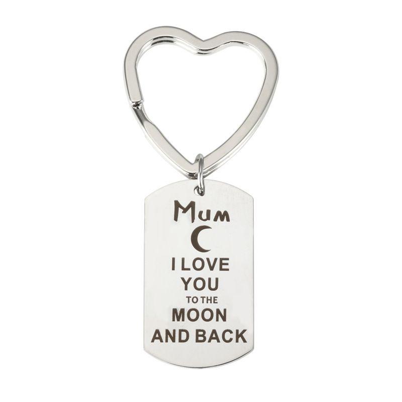 Mektup Oyma Mum Niece Anne Baba Yeğen Brother Nana Arkadaş için Anahtarlık Kolye Anahtarlık Anahtarlık Hediye Kolye Anahtarlık Ücretsiz Kargo