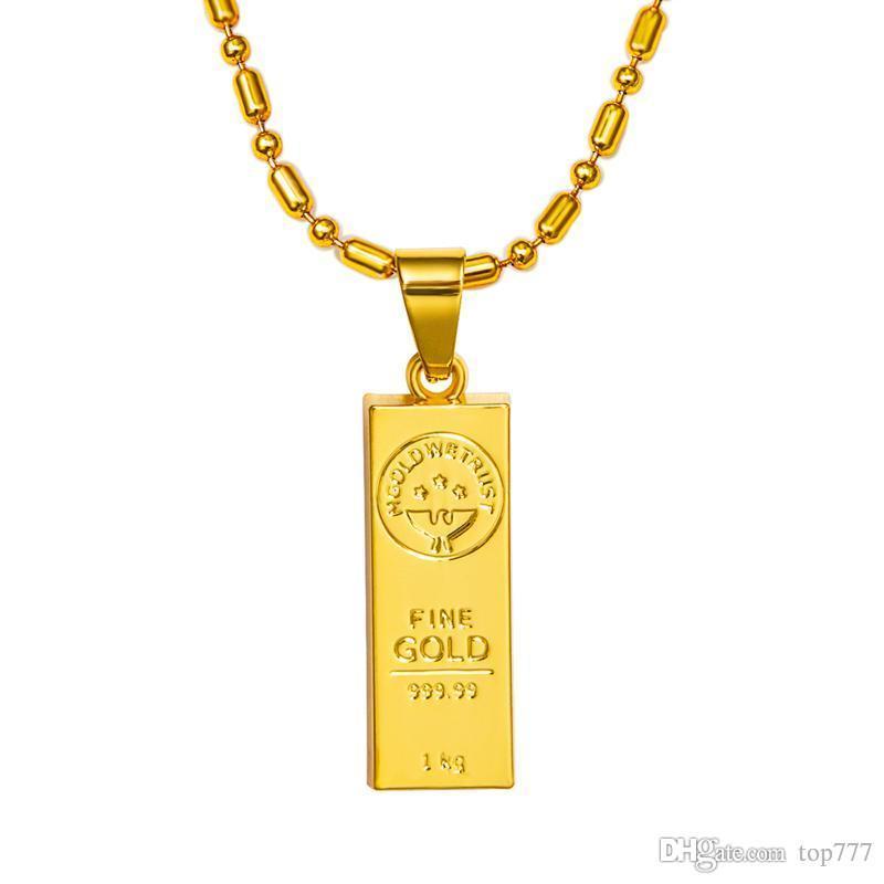 Wholesale 2018 Pendant Necklace New Design Hot Sale Gold Plating ...