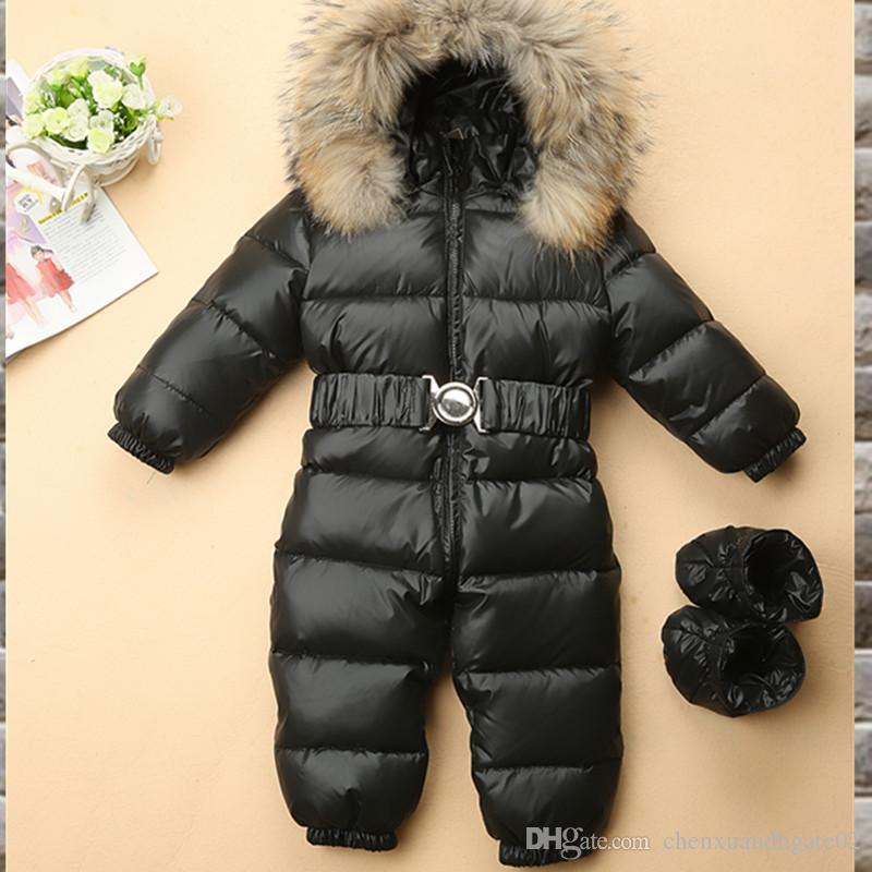 655fb2707 2018 High Quality Children S Winter Jumpsuit Infant Snowsuit Baby ...