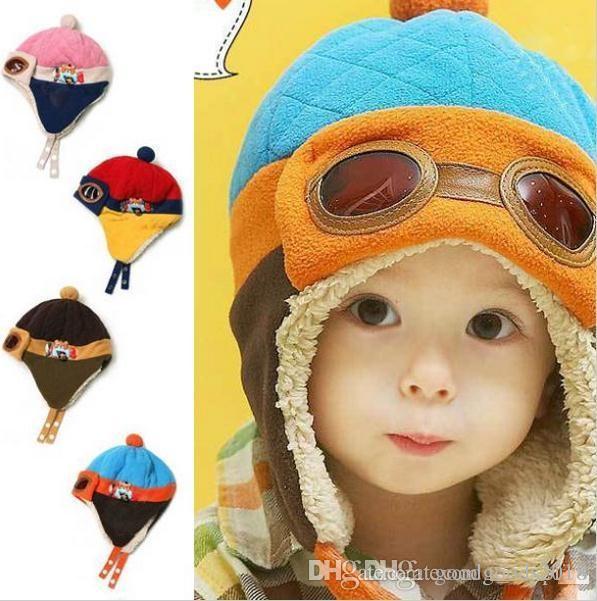 b2a769dedaf 2019 Toddlers Cool Baby Boy Girl Kids Infant Winter Pilot Aviator Warm Cap  Hat Beanie Ear Flap Soft Hat C126 From Goodgoods2018
