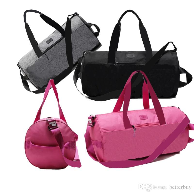 7e6600e73f55 Top Quality Pink Handbags Women Pink Letter Travel Bags VS Beach Bag Duffle  Bags Large Capacity Waterproof Yoga Sports Shoulder Bags New Hot Mat Bags  Yoga ...