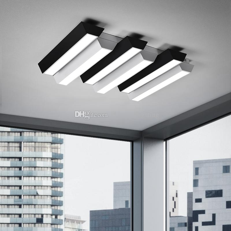 Modern office lighting Suspended 2019 Simple Modern Office Lighting Led Ceiling Lamp Rectangular Creative Piano Black And White Wrought Iron Lamp Lighting From Zhiguanglighting Pinterest 2019 Simple Modern Office Lighting Led Ceiling Lamp Rectangular