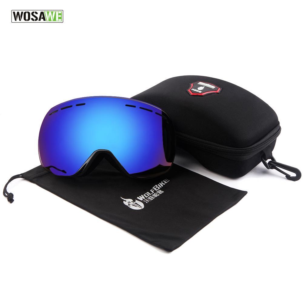 Compre Óculos De Esqui WOSAWE Com Caso Definir UV400 Anti Fog Óculos De  Esqui Esférico Camadas Duplas Esqui Homens Mulheres Óculos De Neve De  Kuaigoubian, ... 214ef4b3ec