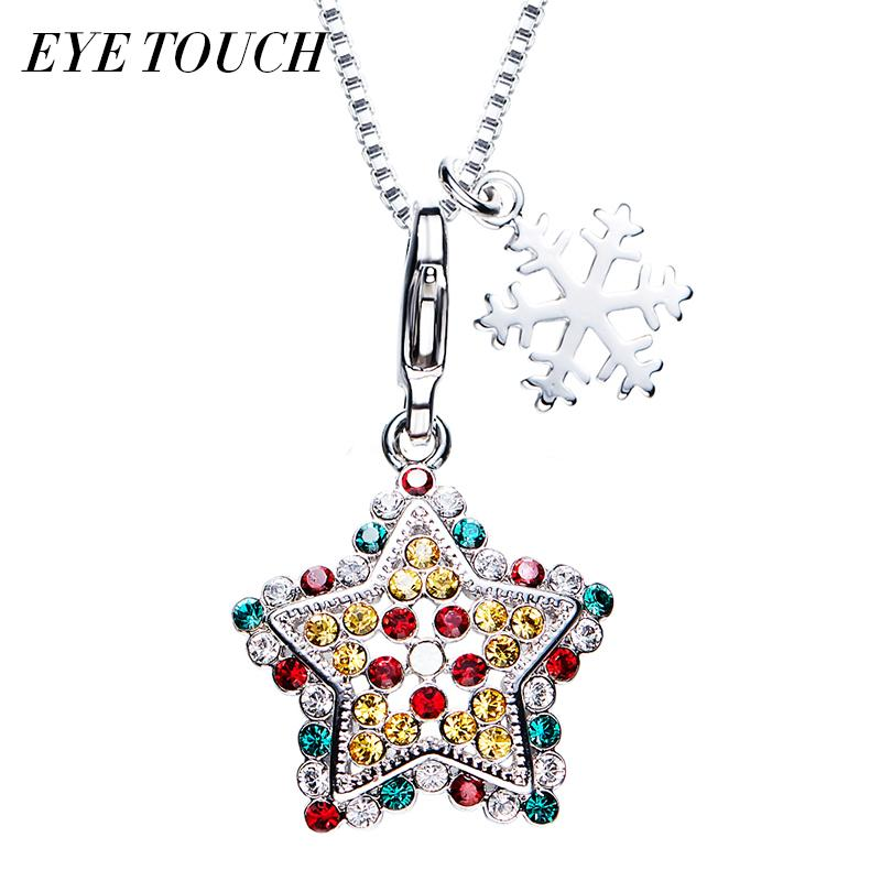 Wholesale wholesale eye touch christmas gift pendants women wholesale wholesale eye touch christmas gift pendants women necklaces star shaped crystals from swarovski luxury fashion jewelry amazing lady gift silver aloadofball Image collections