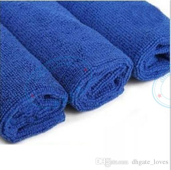 30x30cm Blue Soft Microfiber Cleaning Towel for Car Washing Cloth Auto Care Square Home Bathroom Kitchen Detergency Towels GBN-007
