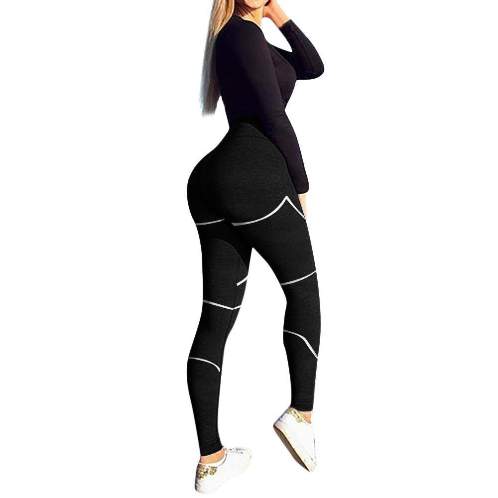 80ba65c5258dd3 Women's Fashion Workout Leggings Fitness Sports Gym Running Yoga Athletic  Pants plus size yoga pants high waist leggings