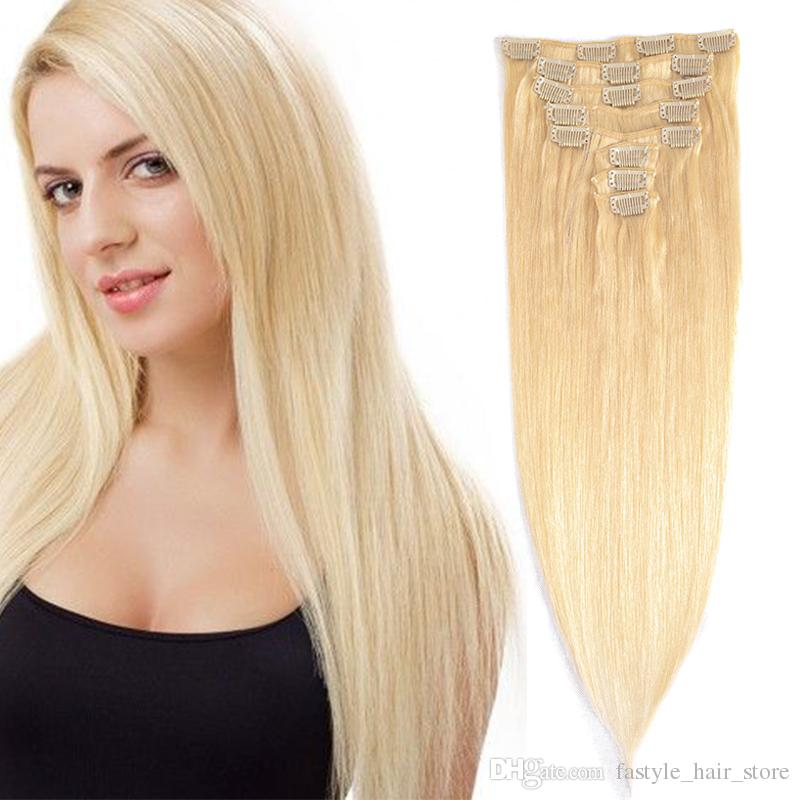 Fastyle Clip Indian Remy Human Hair Extensions Brazilian Virgin