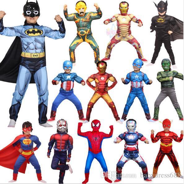 Grosshandel Halloween Kostume Unisex Kinderhelden Superman Captain