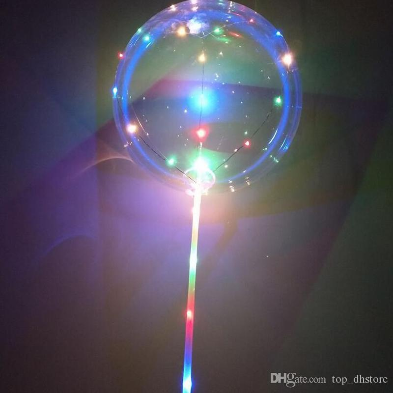 Alisar gumes festa de aniversário do Quarto LED balão luminoso Latex Balloons Wedding Decoração Brinquedos para crianças com 70 centímetros vara