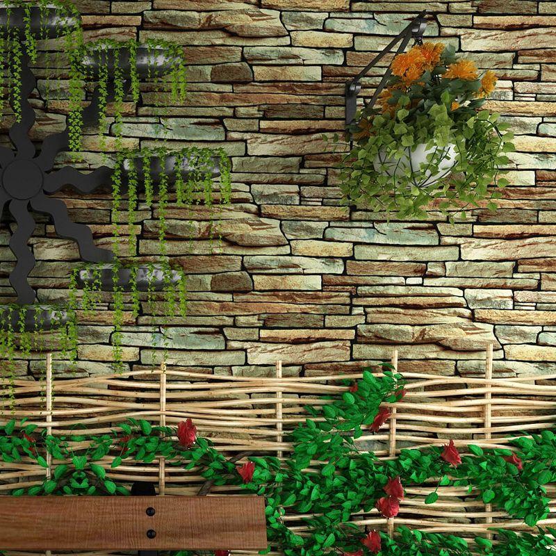 Vintage Rustic 3D Effect Stone Brick Wallpaper Roll For Walls Living Room Wallpaper For Bedroom TV Background Papel De Parede 3D Desktop Backgrounds ...