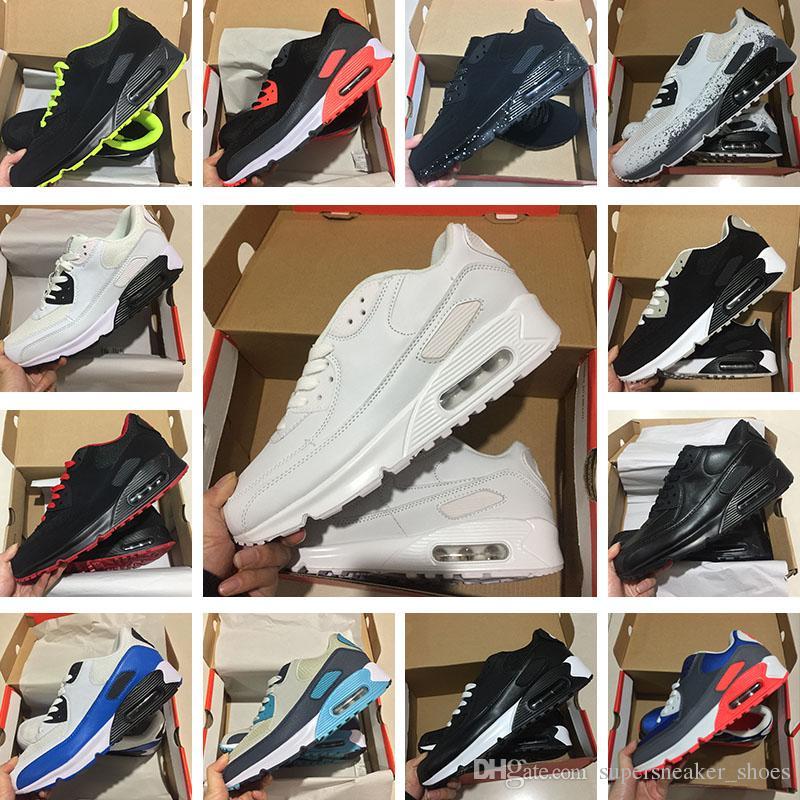 51a0a1e9cba Compre Venda Quente Dos Homens E Mulheressapatilhas Sapatos Clássico Nike  Air Max 90 Ultra Sapatos De Corrida Preto Vermelho Branco Esportes Trainer  Air ...