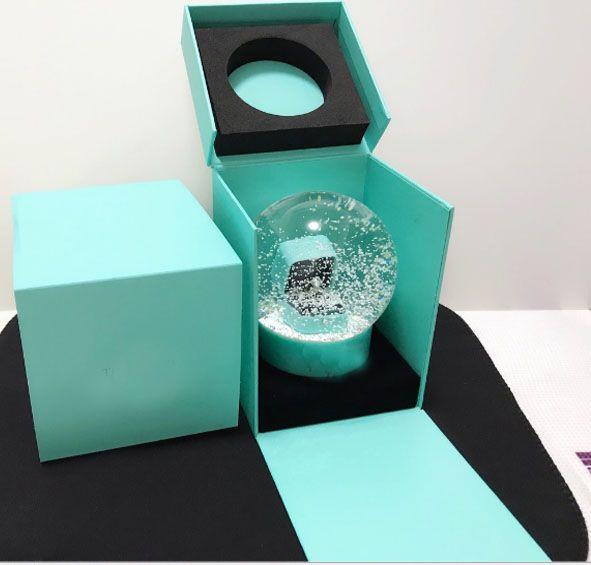 Boule De Verre En Cristal Globe Arts Décoration De La Maison Boule De Flocon De Neige De Noël Enfants XMAS Cadeaux HH7-961