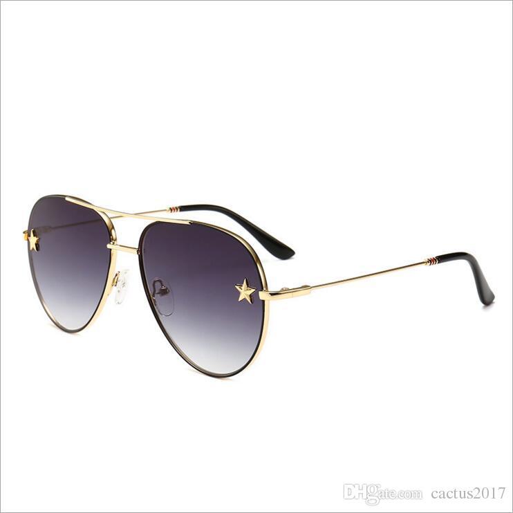 01f948eff7 Vintage Oval Sunglasses Women 2018 Brand Designer Pentagram Sun Glasses Men  Double Bridge Metal Frame Oculos Sunglasses Shop Bolle Sunglasses From ...