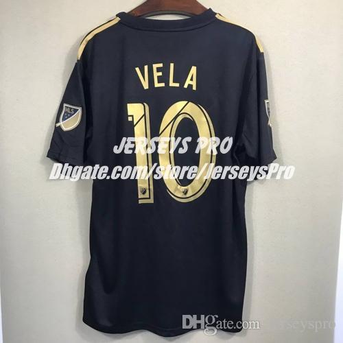 89f4dc49e Carlos Vela Los Angeles LA FC LAFC 2018 Home Black Jersey Diego ...