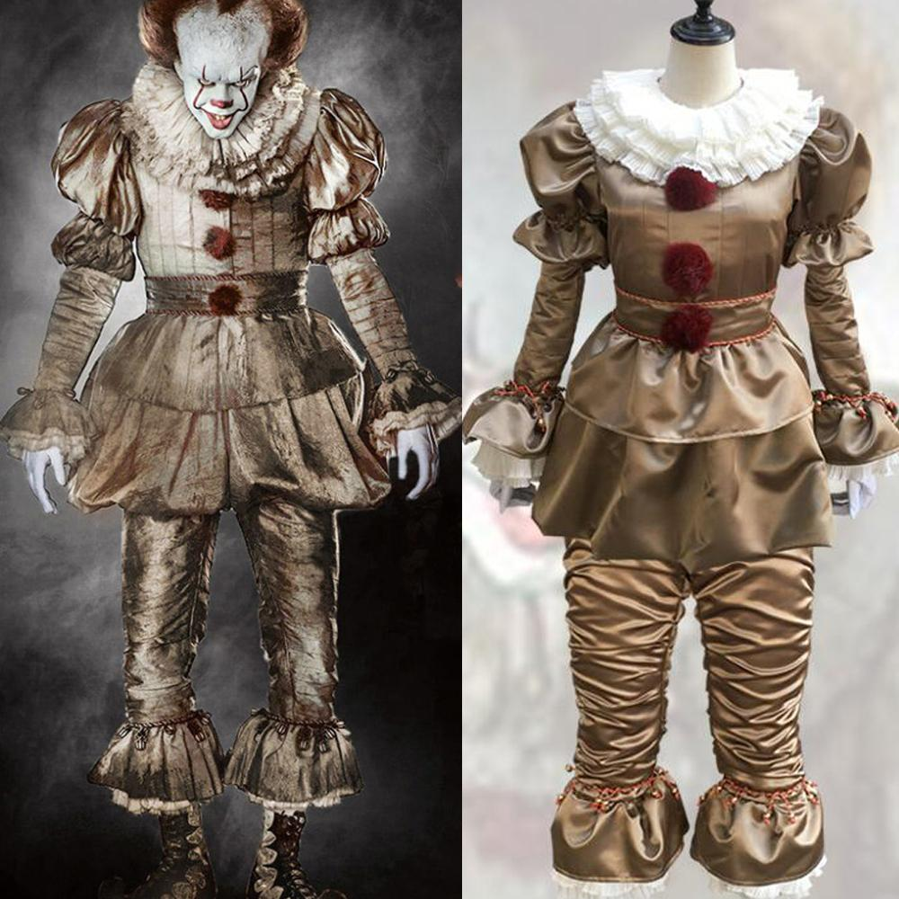 d243c0badfb6 Acquista Pennywise The Clown Costume Movie Costume Da Pagliaccio Spaventoso  Di Stephen King's It Pennywise Cosplay A $111.74 Dal Alberty | DHgate.Com