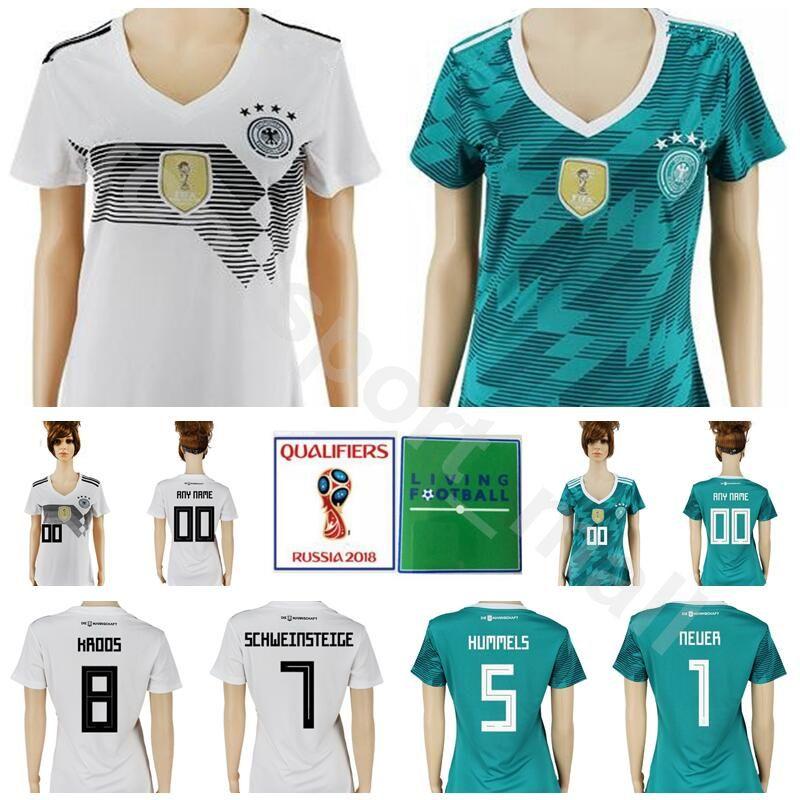 a53559205 Women Germany Jersey 2018 World Cup Lady Soccer 8 KROOS 7 ...