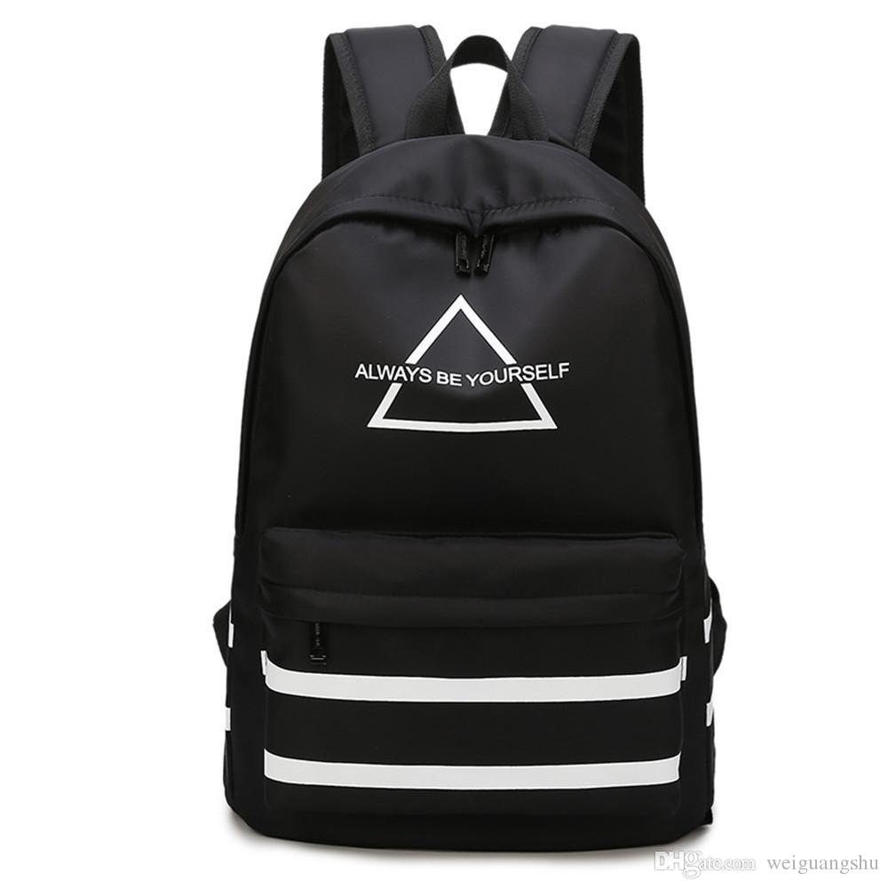Student Bag Travel Backpack Female Korean Version of the Wind Casual  Computer Bag Simple Bag Student Tide Men s And Women s Backpack Backpack  Student Bag ... 9d21f16881