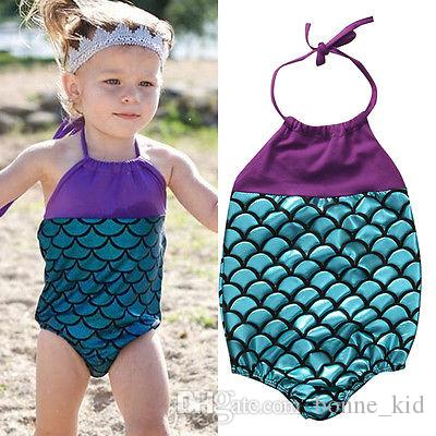 78dd3615e66 2019 Summer Baby Girls Mermaid Swimwear One Piece Swimsuits Bandage Swimsuit  Bathing Suit Beach Wear Princess Swimming Wear From Bonne_kid, $8.3 |  DHgate.
