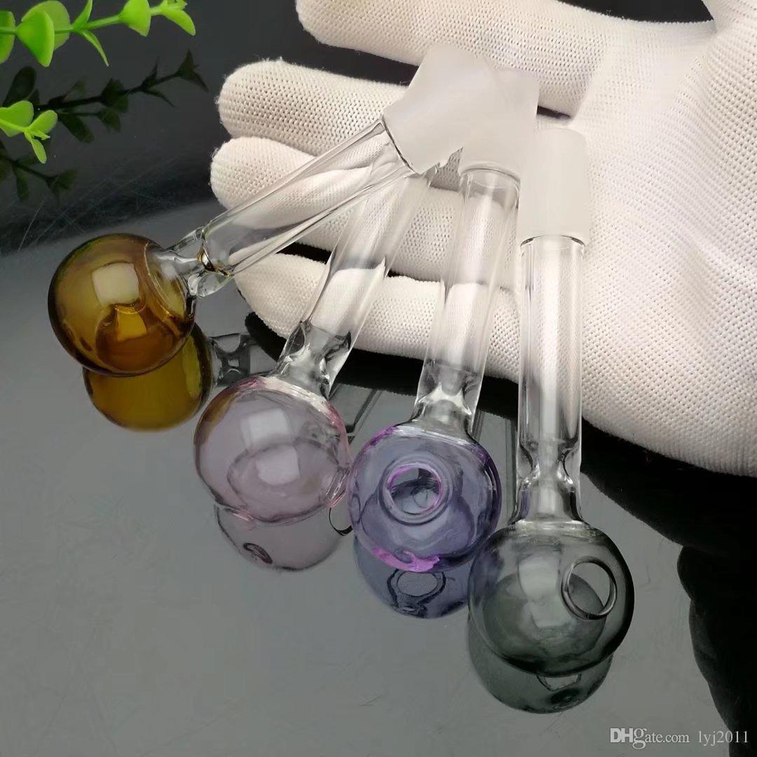Borraccia di vetro a bolle di colore Bong di vetro all'ingrosso Bruciatore a olio Tubi di acqua in vetro Rigs di petrolio Fumo, olio.