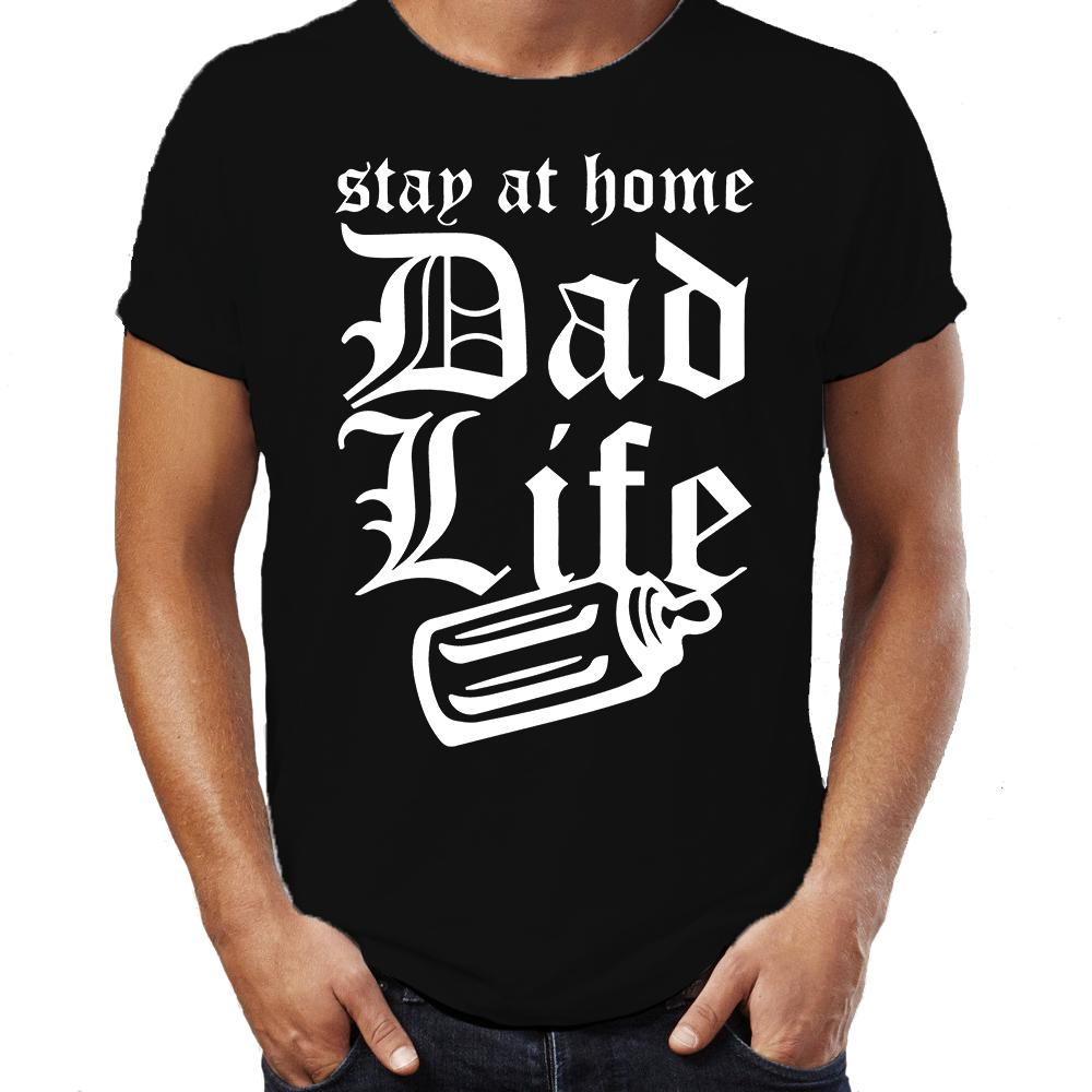e77109f1 Stay At Home Dad Life Funny Father Baby Daddy Thug Mens Gift Fathers Day T  Shirt Men T Shirt Print Cotton Short Sleeve T Shirt Funniest T Shirt  Comical T ...