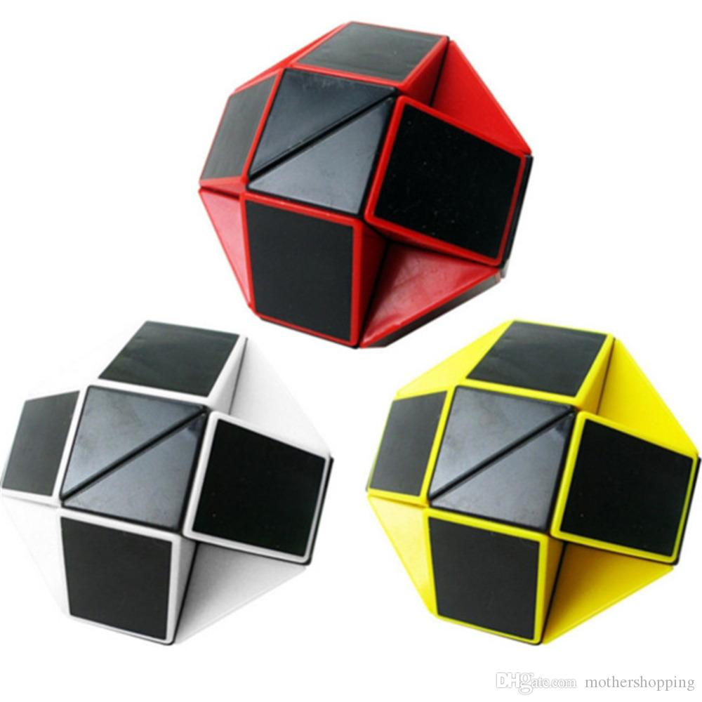 Magic Cubes Toys & Hobbies Colorful Snake Magic Cube Blocks Puzzle 3d Iq Puzzle Magic Ruler Education Intelligence Toys For Chilidren