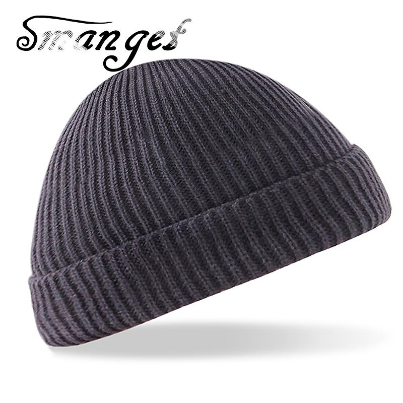 441fe401cef SMANGET High Quality Men Women Winter Warm Knitted Hats New Wool Cashmere  Thick Brand Pure Color Beanies Hats For Outdoor Adult Skullies   Beanies  Cheap ...