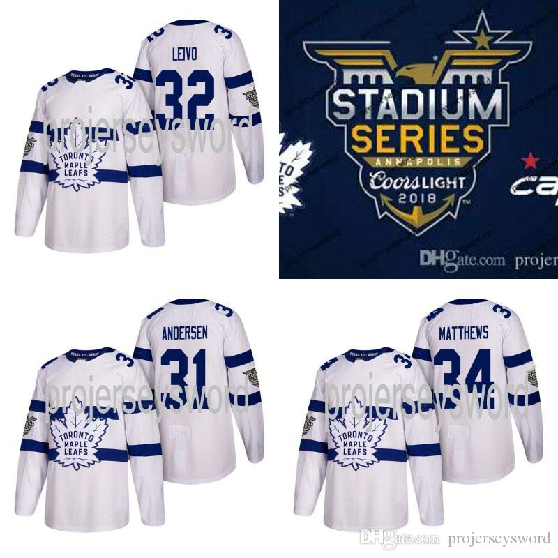 fba4ba3f7 32 Josh Leivo Jersey Toronto Maple Leafs 2018 Stadium Series 16 ...