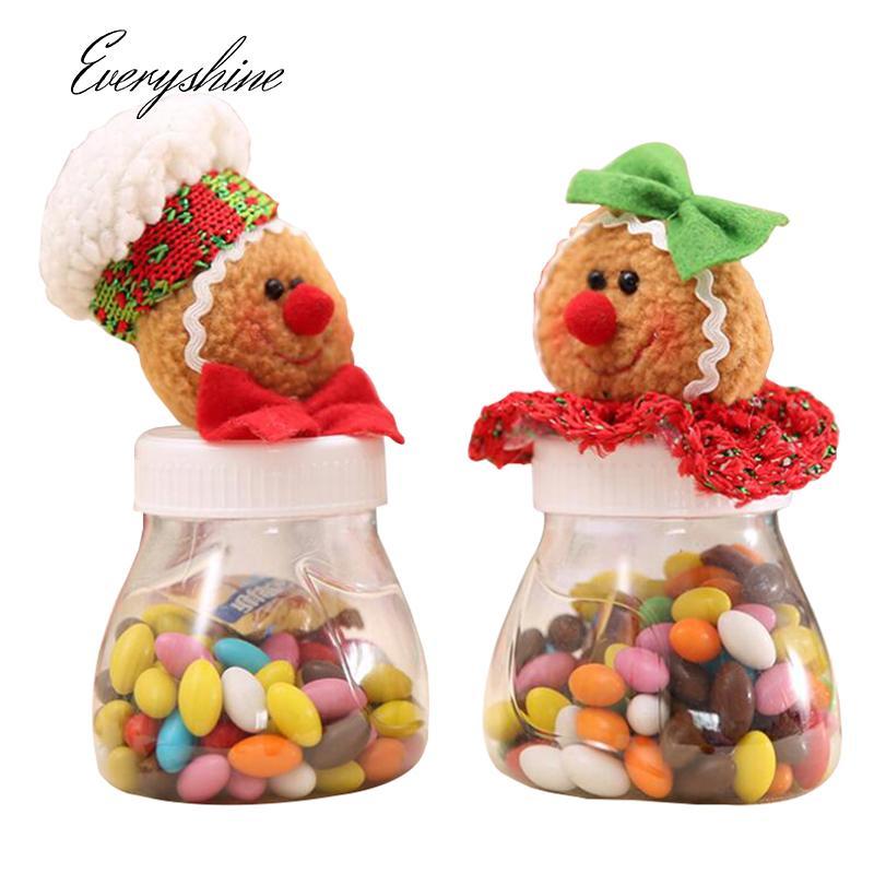 mixed cartoon gingerbread man christmas candy storage box jar bottle xmas home organization decoration sugar case ds360 cheap xmas decorations cheap xmas