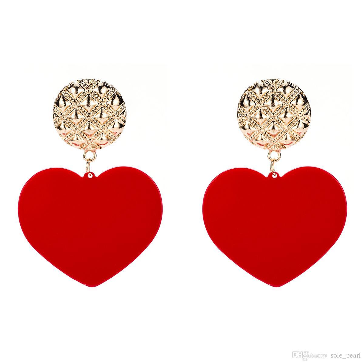 Conseil boucles d'oreilles pour les femmes de luxe Boho personnalité Multicouche Dangle boucles d'oreilles en forme de coeur Ethnique Vintage géométrique mode bijoux 2018