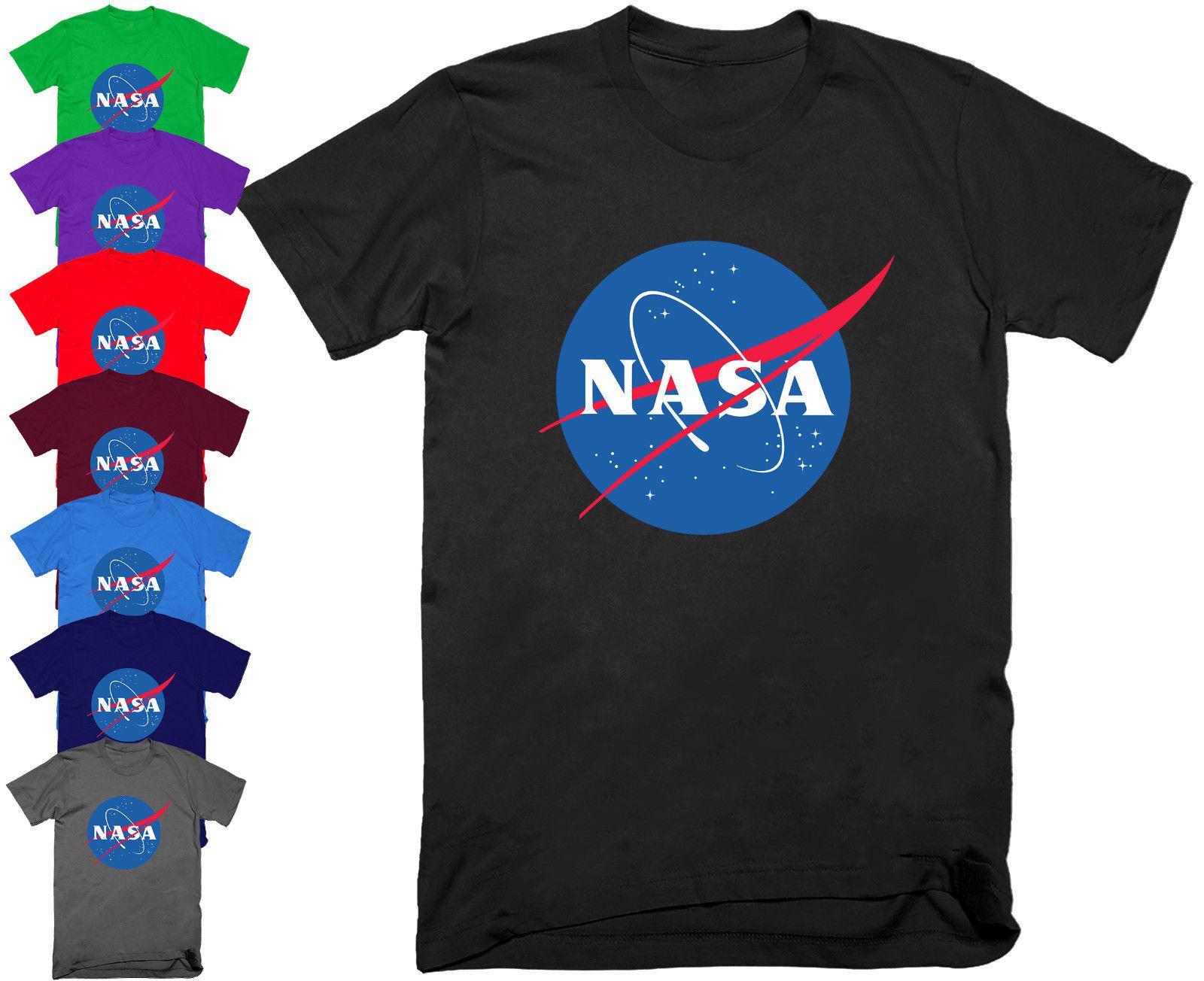 Mens Nasa Logo T Shirt Space Astronaut Geek Nerd Star Tee Top S 5xl