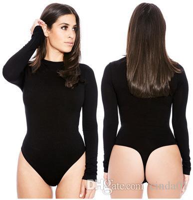 Frauen Solide Kurve Jumpsuits Frauen Lange Ärmel Skinny Shaper Crew Neck Bodysuit Abnehmen Hohe Taille Weibliche Strampler S-XL EUR US Größe