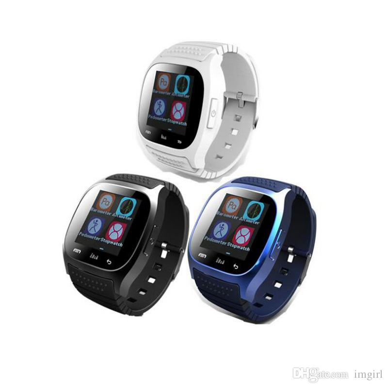 679527cd216 Waterproof Smartwatches M26 Bluetooth Smart Watch With LED Alitmeter Music  Player Pedometer For Apple IOS Android Smart Phone Best Smart Watch  Smartwatches ...